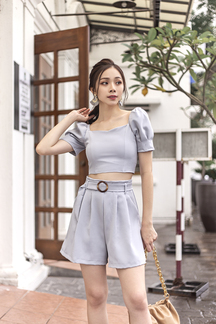 ARYKA PUFF SLEEVES CROP TOP (PALE BLUE)
