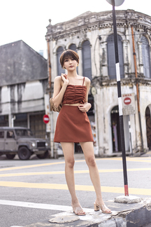 LINSEY MINI SKORTS (RUST)