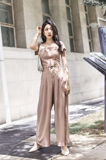 HARVEY WIDE LEG PANTS (LATTE)