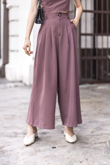 HARVEY WIDE LEG PANTS (PLUM)