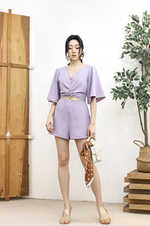 LAYLIA BUTTON FRONT PLAYSUIT (LILAC)