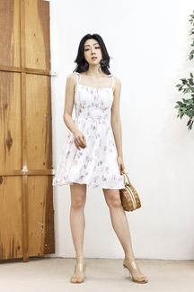 ALESSI TIE-STRING DRESS (LILAC FLORAL)