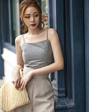 LUCY CAMISOLE TOP (SAGE GREY)