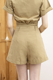 GALEN HIGH WAISTED SHORTS (OLIVE GOLD)