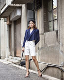 HERA CROPPED BLAZER (NAVY BLUE)