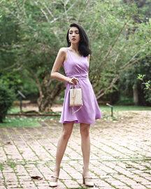 PRISCILLIA WRAP DRESS (ORCHID)
