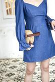 TAYLEN LONG SLEEVES DRESS (BLUE)