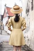 SORREL BUTTON DOWN DRESS (MELLOW YELLOW)