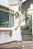 RAVENNA SWEETHEART TIERED DRESS (WHITE)