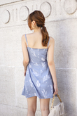 RIVERIA WAIST PANELLING DRESS (BLUE)