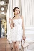 RIVERIA WAIST PANELLING DRESS (IVORY)