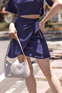 ALVA CROSSOVER SKIRT (NAVY BLUE)