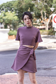 SOYA ROUND NECK CROP TOP (PLUM)