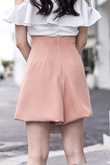 CLEMENTINE CORSET SHORTS (CORAL)