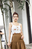 EMBER SWEETHEART CROP TOP (WHITE FLORAL)
