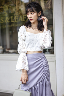 BAYLEE LAYERED SLEEVES TOP (LACE)