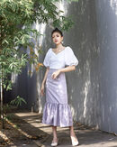 WYNNA TRUMPET SKIRT  (GREY)