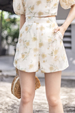 AVIS HIGH WAISTED SHORTS (YELLOW FLORAL)