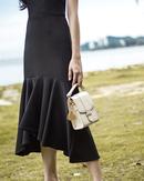 GABRIELLE MERMAID HEM TUBE DRESS (BLACK)